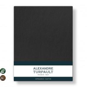 Alexandre Turpault Hoeslaken Teophile Bio Satijn Off Black