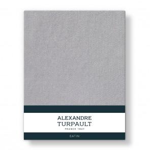 Alexandre Turpault Hoeslaken Satijn Zilvergrijs