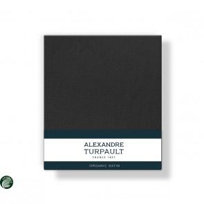 Alexandre Turpault Kussensloop Teophile Bio Satijn Off Black 60 x 70 cm