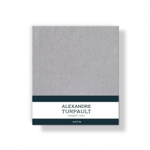 Alexandre Turpault Kussensloop 4 Volant Satijn Zilvergrijs 60 x 70 cm