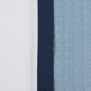 Dommelin Dekbedovertrek Bari Wit Nachtblauw Pastelblauw eenpersoons