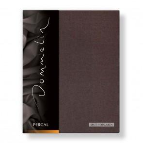 Dommelin Split Hoeslaken Percal bruin