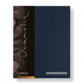 Dommelin Dubbel Split Hoeslaken Deluxe Percal Nachtblauw