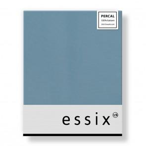 Essix Hoeslaken Percal Bleu Glacier 90 x 200 cm