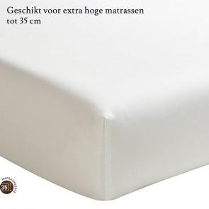 Essix Hoeslaken Hoge Hoek Percal Meringue
