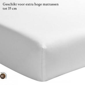 Essix Hoeslaken Hoge Hoek Percal Wit