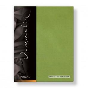 Dommelin Dubbel Split Hoeslaken Percal groen