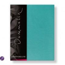 Dommelin Hoeslaken Jersey Deluxe Turquoise 90 x 200 cm