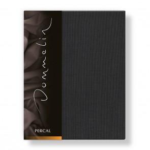 Dommelin Hoeslaken Deluxe Percal Steenkool 180 x 210 cm