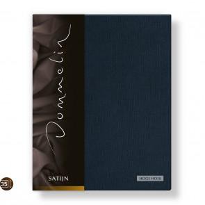 Dommelin Hoeslaken Hoge Hoek Deluxe Satijn Nachtblauw 160 x 200 cm