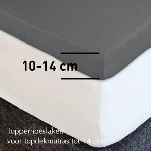 Dommelin Topper Hoeslaken 10-14 cm Flanel Taupe