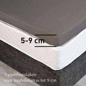 Dommelin Topper Hoeslaken 5-9 cm Flanel Taupe