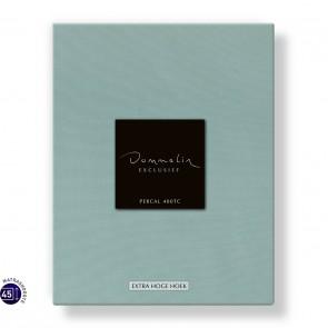 Dommelin Hoeslaken Extra Hoge Hoek Percal 400TC Lichtgroen 105 x 210 cm