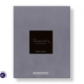 Dommelin Hoeslaken Extra Hoge Hoek Percal 400TC Middengrijs 105 x 210 cm