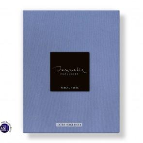 Dommelin Hoeslaken Extra Hoge Hoek Percal 400TC Staalblauw 105 x 210 cm