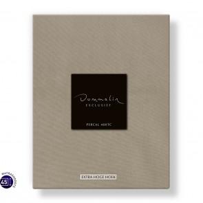 Dommelin Hoeslaken Extra Hoge Hoek Percal 400TC Zand 105 x 210 cm