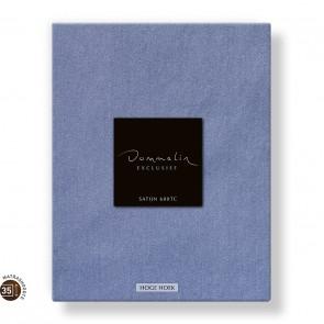 Dommelin Hoeslaken Hoge Hoek Satijn 600TC Staalblauw 105 x 210 cm