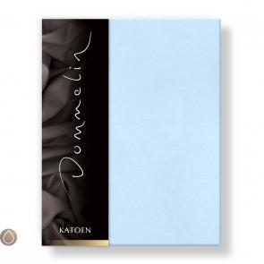 Dommelin Hoeslaken Katoen Lichtblauw 90 x 190 cm