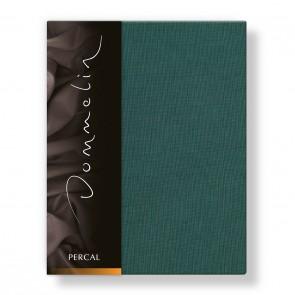Dommelin Hoeslaken Deluxe Percal Antiekgroen 160 x 200 cm