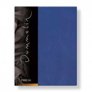 Dommelin Hoeslaken Deluxe Percal Jeansblauw