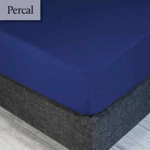 Dommelin Hoeslaken Percal 200TC Jeansblauw 100 x 200 cm