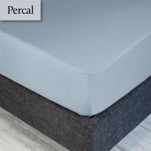 Dommelin Hoeslaken Percal 200TC Lichtblauw 100 x 200 cm