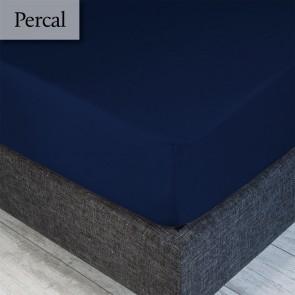 Dommelin Hoeslaken Percal 200TC Navy 100 x 200 cm