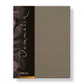 Dommelin Hoeslaken Deluxe Percal Taupe