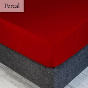 Dommelin Hoeslaken Percal 200TC Terracotta