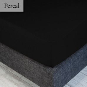 Dommelin Hoeslaken Percal 200TC Zwart