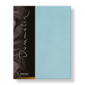 Dommelin Hoeslaken Deluxe Satijn Pastelblauw