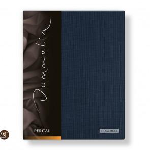 Dommelin Hoeslaken Hoge Hoek Deluxe Percal Nachtblauw 105 x 210 cm