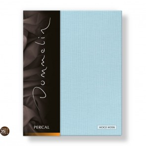 Dommelin Hoeslaken Hoge Hoek Deluxe Percal Pastelblauw