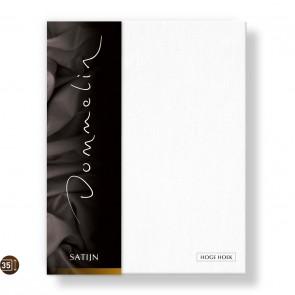 Dommelin Hoeslaken Hoge Hoek Deluxe Satijn wit 105 x 210 cm