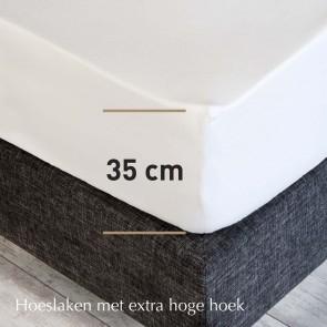Dommelin Hoeslaken Hoge Hoek Finest Linnen Navy 90 x 200 cm