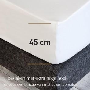 Dommelin Hoeslaken Extra Hoge Hoek Micromodal Lichtgrijs
