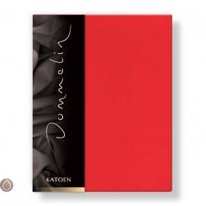 Dommelin Hoeslaken Katoen Rood 120 x 190 cm