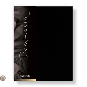 Dommelin Hoeslaken Katoen Zwart 90 x 190 cm