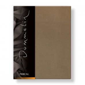 Dommelin Hoeslaken Deluxe Percal Cappucino