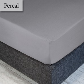 Dommelin Hoeslaken Percal 200TC Muisgrijs 100 x 200 cm