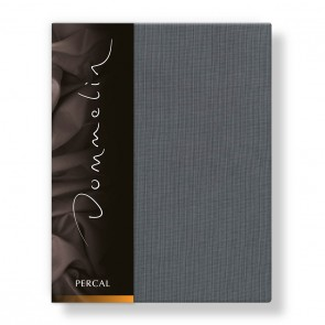 Dommelin Hoeslaken Deluxe Percal Olifantgrijs 210 x 220 cm