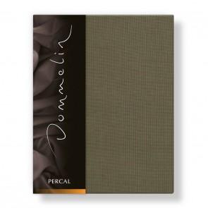 Dommelin Hoeslaken Deluxe Percal Olijfgroen 210 x 220 cm