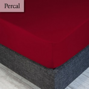 Dommelin Hoeslaken Percal 200TC Rosso