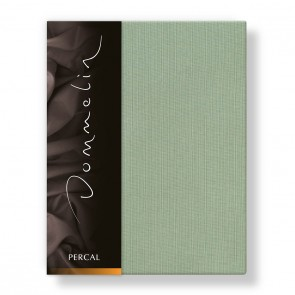 Dommelin Hoeslaken Deluxe Percal Spargroen 90 x 200 cm