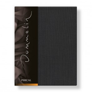 Dommelin Hoeslaken Deluxe Percal Steenkool 210 x 220 cm