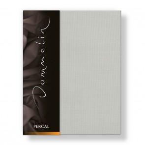Dommelin Hoeslaken Deluxe Percal Zilver 90 x 200 cm