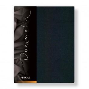 Dommelin Hoeslaken Deluxe Percal Zwart