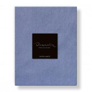 Dommelin Hoeslaken Satijn 600TC Staalblauw 180 x 220 cm