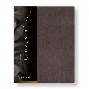 Dommelin Hoeslaken Deluxe Satijn Bruin 200 x 210 cm