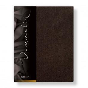 Dommelin Hoeslaken Deluxe Satijn Choco 90 x 200 cm